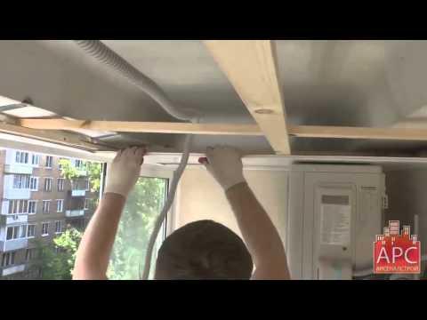 Обшивка балкона пластиковыми панелями под ключ