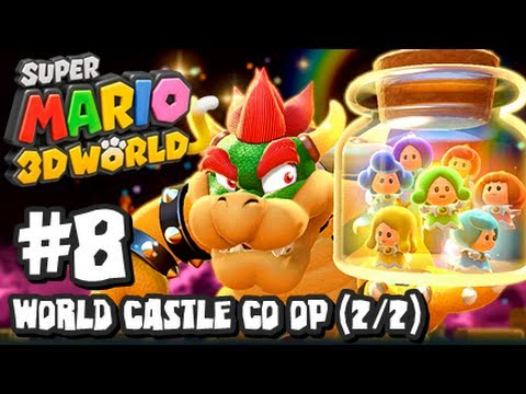 Super Mario 3D World Wii U - (1080p) Co-Op Part 8 - World Castle (2/2)
