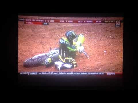 Mark Monea Front Flip Attempt at MOTOX Best Trick xgames 18