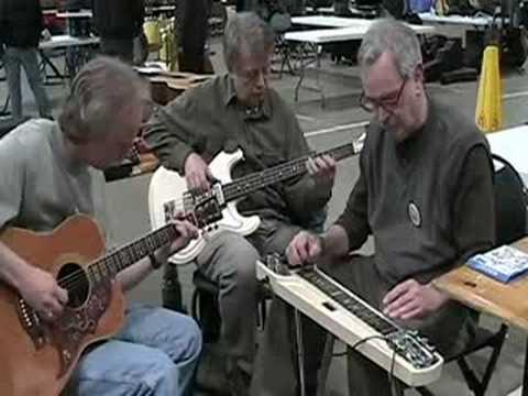 Cal Hand steel guitar, Gary Schwartz bass,&Rick Anderson guitar in Bud's Bounce