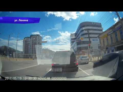 Видеорегистратор ДТП на ул Блюхера, УАЗ и Фольксваген. Место происшествия 24.05.2017