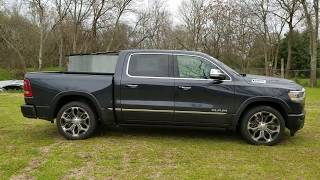 2019 Ram Limited : Air Suspension  - walk around , adjustable height - how low can you go - air bags