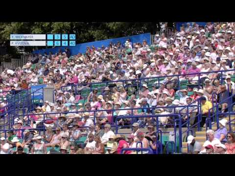 Yanina Wickmayer's victory over Petra Kvitova at the 2013 Aegon International