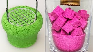 Very Satisfying and Relaxing Compilation 125 Kinetic Sand ASMR