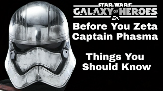 Star Wars Galaxy Of Heroes Before You Zeta Captain Phasma Things You Should Know
