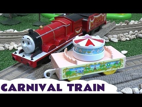Thomas And Friends Carnival Train Play Doh James Tomy Engine Trackmaster Play-doh Theme Park Train video