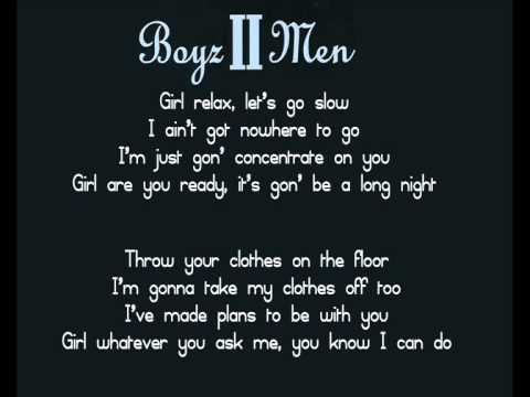 BOYZ II MEN - I'LL MAKE LOVE TO YOU LYRICS