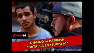 DJANGO vs PAPICHA - FINAL EN STUDIO 92 | BATALLA DE LOS POLLITOS | BATALLAS DE FREESTYLE