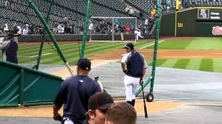 Ichiro Hitting Homeruns During Batting Practice at Safeco 4/20/12 LIVE HD