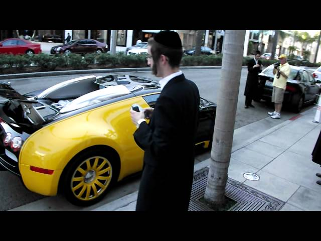 Bugatti Veyron in Beverly Hills,Rodeo Drive