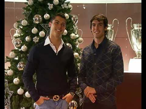 Cristiano Ronaldo and Kaká wish Merry Christmas and a Happy New Year to all Real Madrid fans!! Subscribe to Real Madrid on YouTube: http://bit.ly/NSyxv8 Like...