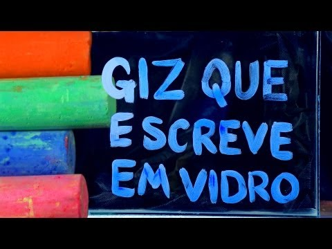 Giz que escreve em vidro - Chalk for writing on glass