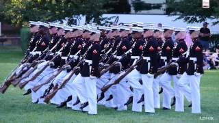 Watch The Amazing Marine Corps Silent Drill Platoon Perform at the Sunset Parade