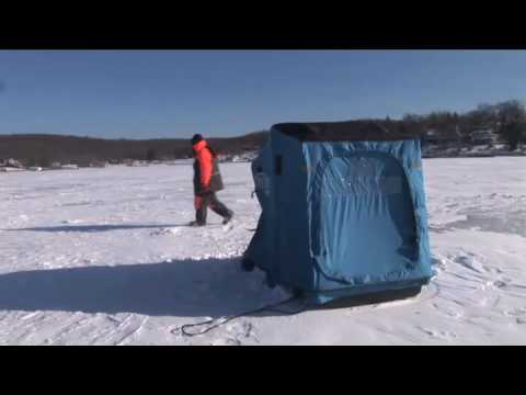 Hopatcong High School. Ice fishing on Lake Hopatcong