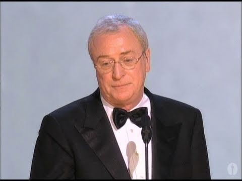 "Michael Caine winning Best Supporting Actor for ""The Cider House Rules"""