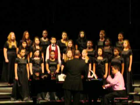 John Hopkins Middle School's Advanced Chorus performs at Gibbs High School