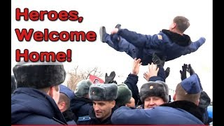RAW: Russian Pilots Arriving Home From Syria Given Hero's welcome