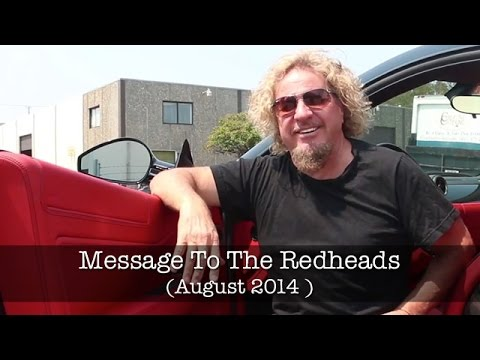 Sammy Hagar Message to Redheads August 2014