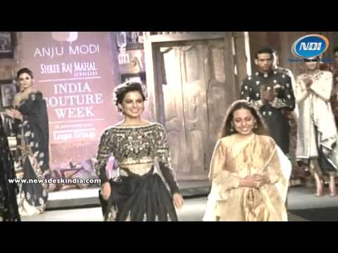 SMRJ India Couture Week 2014: Kangana Ranaut on ramp with Anju Modi