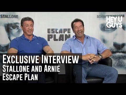 Sylvester Stallone and Arnold Schwarzenegger Interview - Escape Plan