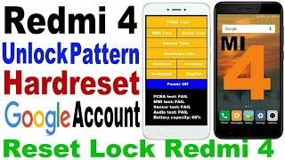 Redmi 4 Unlock Pattern | Reset Android Phone When Locked | Hard Reset Xiaomi 4 | Unlock Xiaomi Phone