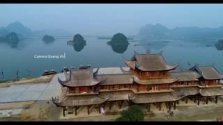 4K Flycam Toàn cảnh chùa Tam Chúc đầu Xuân 2019