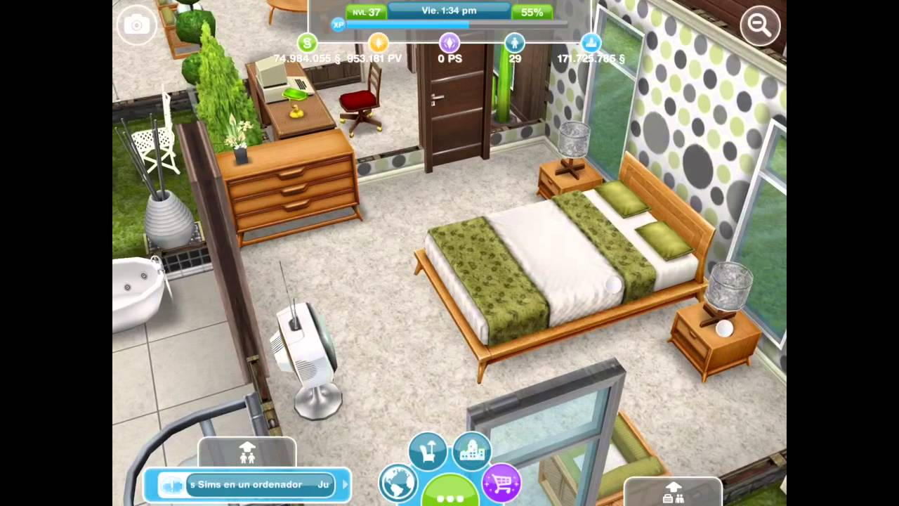 Sims gratuito casa escandinava recorrido y rese a for Casa de diseno the sims freeplay