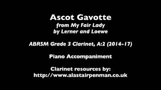 Ascot Gavotte by Alan Jay Lerner and Frederick Loewe. Piano accompaniment