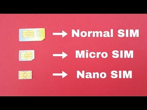 How to Cut Normal SIM Card into Micro SIM or Nano SIM using Scissor
