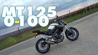 [GoPro]MT-125 0-100/60-100 + Top Speed
