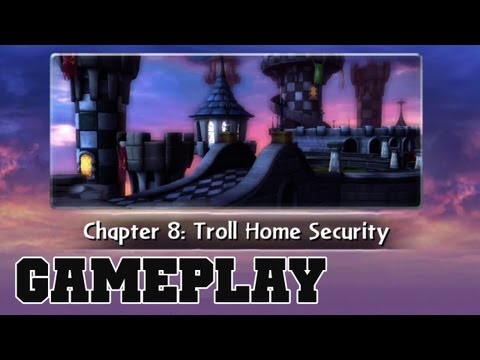 COTV - SKYLANDERS GIANTS Troll Home Security Gameplay Commentary 08