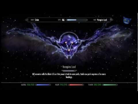 Skyrim Dawnguard : Vampire Lord Complete Perk Tree