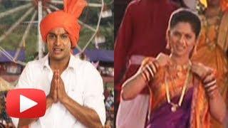 Marathi Movie Zapatlela 2 3D - Making Of A Song - Tu  Omkar Tu Nirakar - Mahesh Kothare