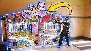 THE BIGGEST CANDY VENDING MACHINE EVER!