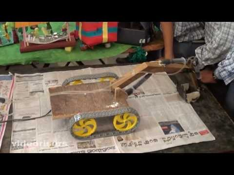 Download how to make jcb procliner with waste materials for Waste material model making