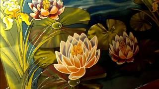 Батик. Batik. Silk painting. Kimono, ציור משי  絹の絵画