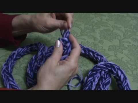 Cachecol de tricô de dois dedos do tipo Rabo de Gato.wmv