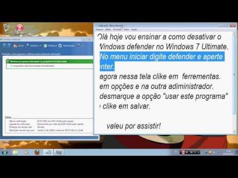 Como desativar Windows Defender no Windows 7 Ultimate.