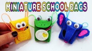DIY Back To School: No-sew Miniature Schoolbag / Backpack / Bookbag Tutorial