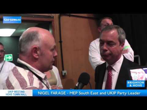 UKIP leader Nigel Farage Calls Peter Hain's UAF Disgraceful