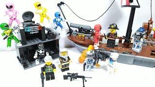 Đồ chơi 6 anh em siêu nhân tí hon đánh hải tặc lego