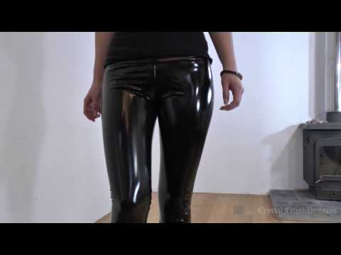 Sexy Liquid Latex Leggings Slinky Fetish