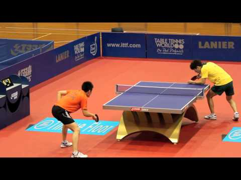 Oceania Olympic Qualification. J Han vs P Xiao. Table Tennis HD