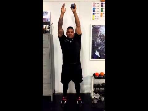 MLB Player Marlon Byrd Shoulder Tightness and Overhead Position Work Part 1