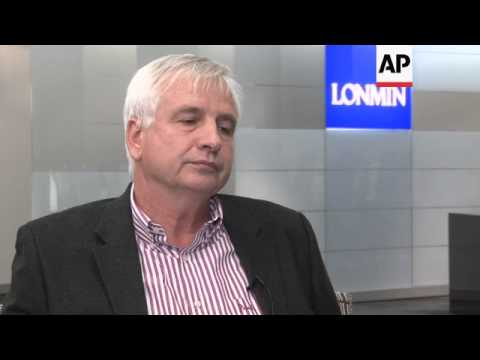 Lonmin finance director comments after police kill more than 30 striking miners