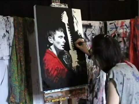 MUSE #2 MATT BELLAMY - Speed ART Painting - Stephen Quick (Ode to Teignmouth)