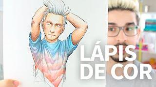 Pintando com Lápis de Cor Aquarelável   Rodrigo Falco