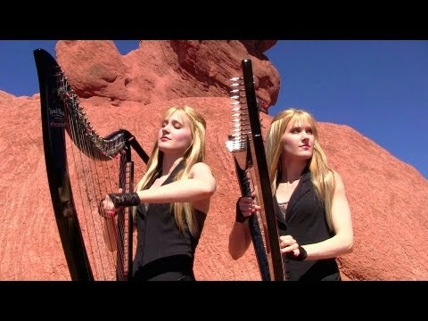 METALLICA - Nothing Else Matters (Harp Twins electric) Camille and Kennerly Music Videos