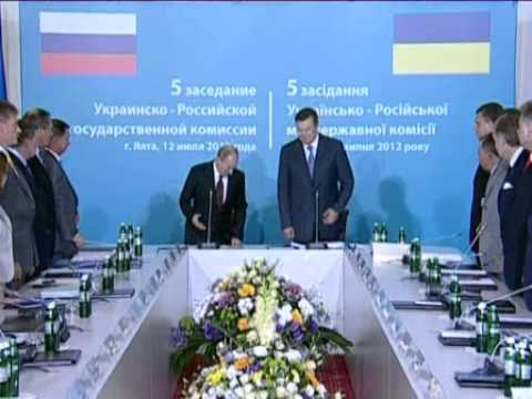 July 13, 2012 Ukraine_Putin, Yanukovich hold bilateral talks, chair interstate commission