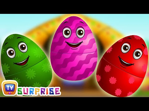 Surprise Eggs Nursery Rhymes | Old MacDonald Had A Farm | Learn Colours & Farm Animals | ChuChu TV